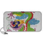Illustration of Chinese dragon flying Travel Speakers