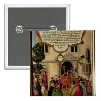 Illustration of Christ's teaching Button
