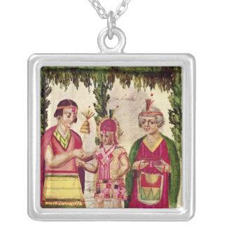 Illustration of Cincheroca Square Pendant Necklace