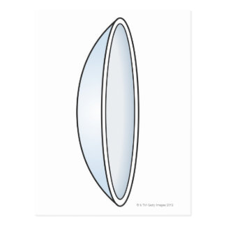 Illustration of Contact Lens Postcard