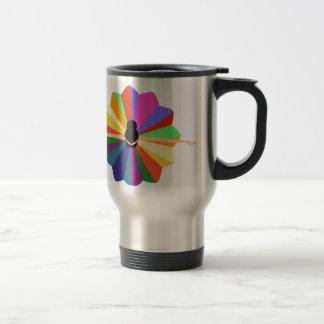 illustration of dancing ballerina travel mug