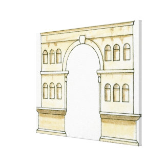 Illustration of early 4th century Arch of Janus Canvas Print