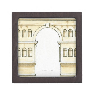 Illustration of early 4th century Arch of Janus Jewelry Box