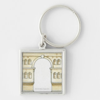 Illustration of early 4th century Arch of Janus Keychain
