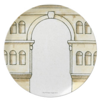 Illustration of early 4th century Arch of Janus Melamine Plate