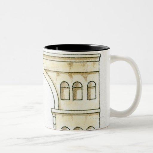 Illustration of early 4th century Arch of Janus Mugs