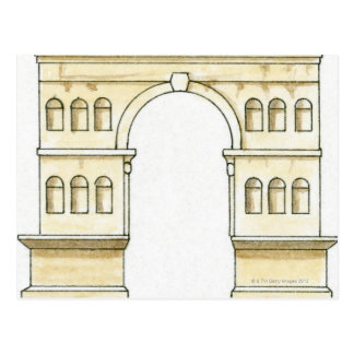 Illustration of early 4th century Arch of Janus Postcard
