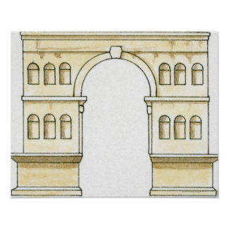 Illustration of early 4th century Arch of Janus Poster