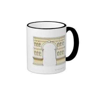 Illustration of early 4th century Arch of Janus Ringer Coffee Mug