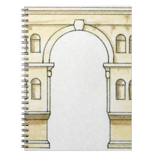 Illustration of early 4th century Arch of Janus Spiral Notebook