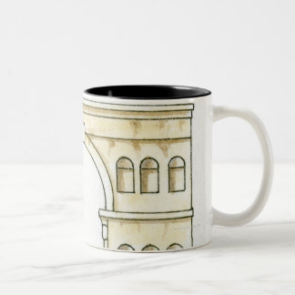 Illustration of early 4th century Arch of Janus Two-Tone Coffee Mug