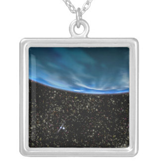 Illustration of Earth's horizon Silver Plated Necklace
