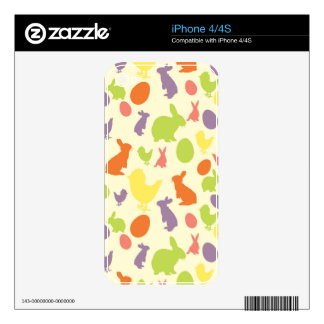 Illustration of Easter background Decal For iPhone 4
