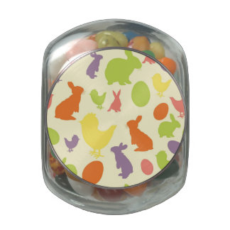 Illustration of Easter background Jelly Belly Candy Jars