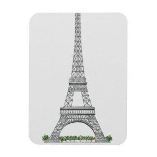 Illustration of Eiffel Tower in Paris, France. Magnet