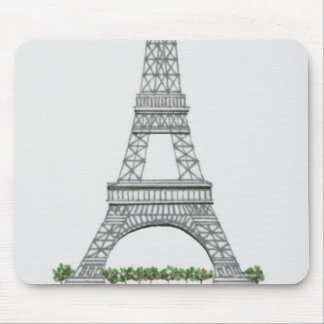 Illustration of Eiffel Tower in Paris, France. Mouse Pad