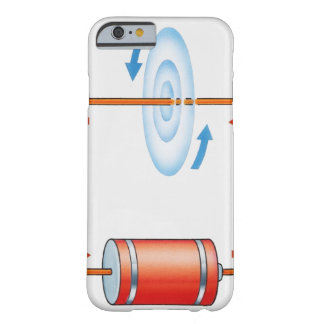 Illustration of electric current producing barely there iPhone 6 case