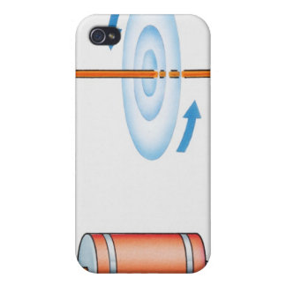 Illustration of electric current producing iPhone 4/4S case