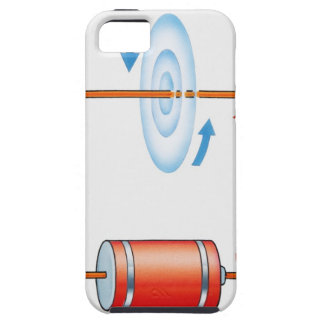 Illustration of electric current producing iPhone SE/5/5s case