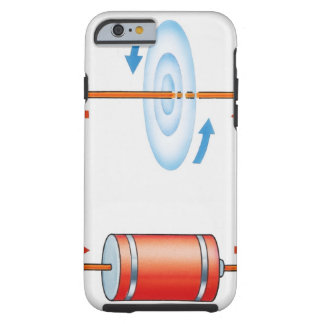 Illustration of electric current producing tough iPhone 6 case