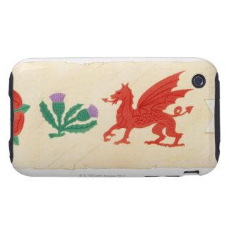 Illustration of English Rose, Scottish Thistle, Tough iPhone 3 Covers