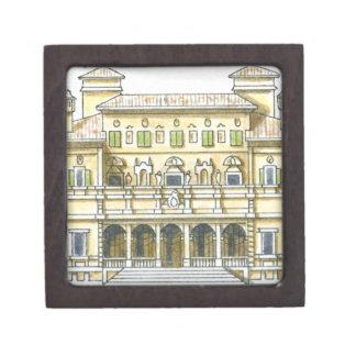 Illustration of facade of 17th century Galleria Jewelry Box