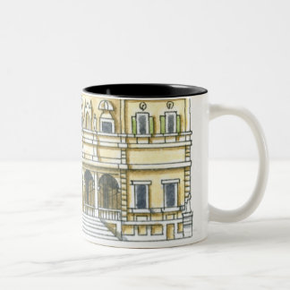 Illustration of facade of 17th century Galleria Two-Tone Coffee Mug