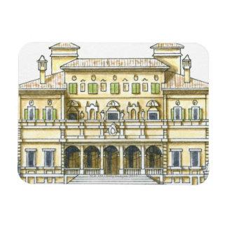 Illustration of facade of 17th century Galleria Rectangular Photo Magnet