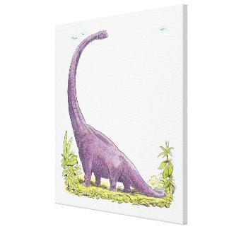 Illustration of Giraffatitan dinosaur Canvas Print