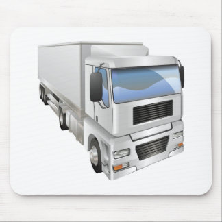 Illustration of haulage truck mouse pad