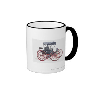 Illustration of horseless carriage coffee mug