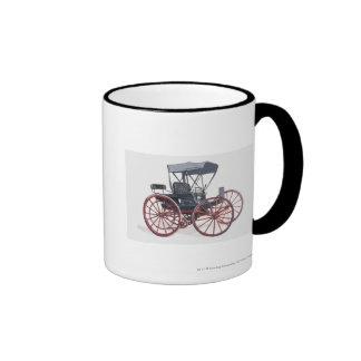 Illustration of horseless carriage ringer mug