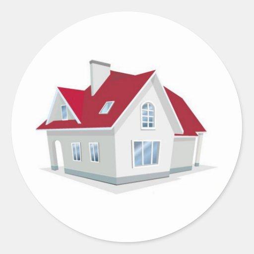 illustration-of-house1 etiquetas redondas