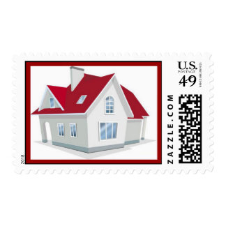 illustration-of-house1 timbres postales