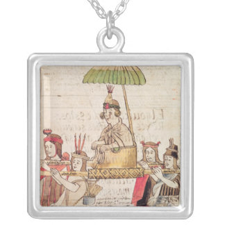 Illustration of Huascar Inca Square Pendant Necklace