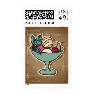 Illustration of Ice Cream in retro style Postage Stamp