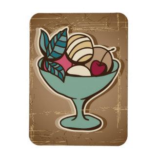 Illustration of Ice Cream in retro style Rectangular Photo Magnet