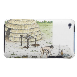 Illustration of Iddins village scene, Tennessee iPod Touch Case-Mate Case