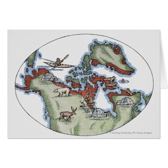 Illustration of Inuit territory Card
