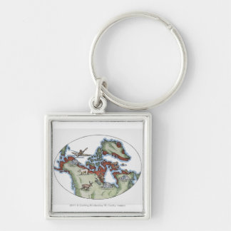 Illustration of Inuit territory Key Chains