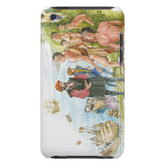 Illustration of Jacques Cartier conversing with Barely There iPod Covers