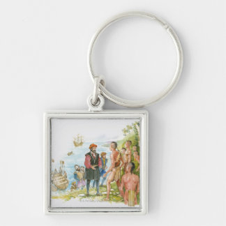 Illustration of Jacques Cartier conversing with Keychain