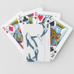 Illustration of Killer Whales (Orcinus orca) Bicycle Poker Cards