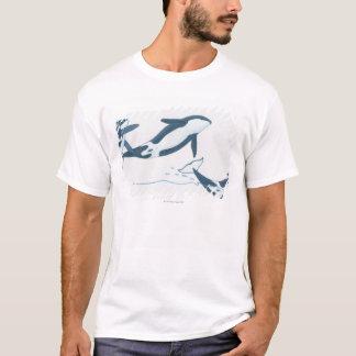 Illustration of Killer Whales (Orcinus orca) T-Shirt