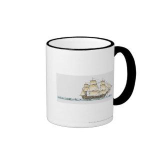 Illustration of late 18th century warship mug
