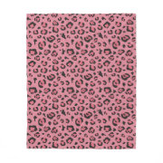 Illustration of Leopard Pink Animal Fleece Blanket