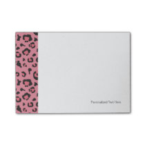 Illustration of Leopard Pink Animal Post-it Notes