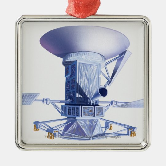 Illustration of Magellan spacecraft Metal Ornament