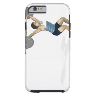 Illustration of man performing weightlifting tough iPhone 6 case