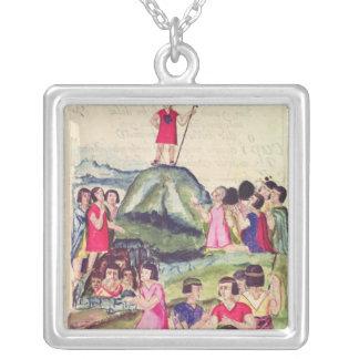 Illustration of Manco Capac Square Pendant Necklace